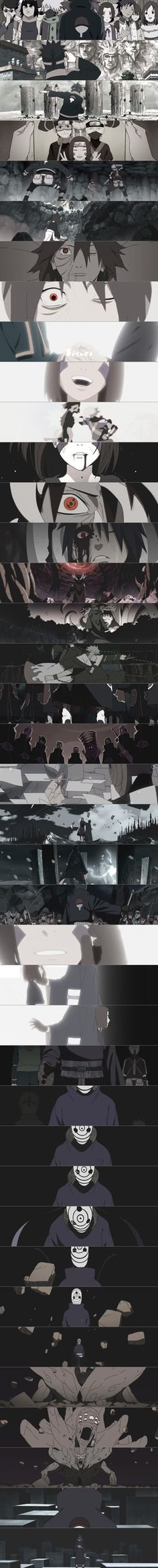 Evolution of Uchiha Obito (cr. by pawa)