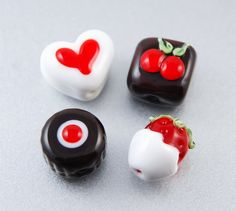 Glass Chocolate Beads in a Tin by LoriBergmann #handmade #lampwork #ValentinesDay
