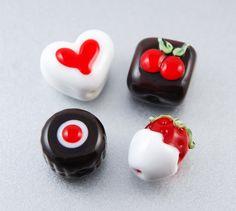 Glass Chocolate Beads in a Tin by LoriBergmann #handmade #lampwork #ValentinesDay