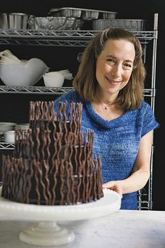 How to make chocolate curls (Rose Levy Beranbaum).