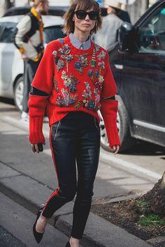 Стритстайл фото на Неделе моды в Париже: весенние тренды   Мода   STREETSTYLE   VOGUE