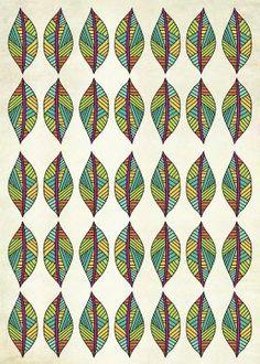 Kess InHouse Louise Machado Blue Multicolor Ethnic Animal Print Vector Illustration 68 x 80 Wall Tapestry