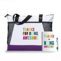 Thanks for Being Awesome Motivational Tote Gift Set