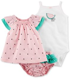 908b6dccf Carter's 3-Pc. Cotton Tunic, Bodysuit & Shorts Set, Baby Girls & Reviews -  Sets & Outfits - Kids - Macy's