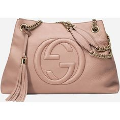 Gucci Soho Medium Textured Leather Shoulder Bag ❤ liked on Polyvore featuring bags, handbags, shoulder bags, gucci shoulder bag, shoulder bag purse, beige handbags, chain shoulder bag and gucci handbags