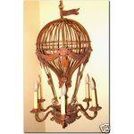 Vintage Hot Air Balloon Chandelier Victorian Era Style