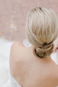 The Vault: Curated & Refined Wedding Inspiration - Style Me Pretty Low Bun Hairstyles, Elegant Hairstyles, Short Hairstyles For Women, Wedding Hairstyles, Wedding Day Makeup, Bridal Hair And Makeup, Bridal Beauty, Hair Makeup, Medium Hair Styles