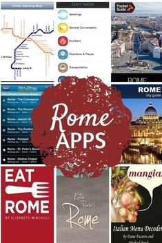Dump the guidebooks, phrasebooks and maps and download all you need to your smartphone before you go with these Rome iPhone apps for travelers.  #ItalyVacation