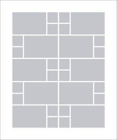 Fotocollage 50x60 | 30 Bilder Hochformat