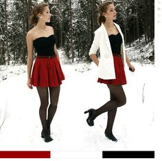 Just bought a red skater skirt, and this is the look I'm going for!