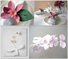 DIY Wedding - Orchid Paper Centerpieces