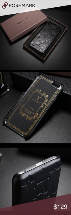 iPhone 7 Plus leather luxury case Full leather iPhone 7 Plus luxury case. New inbox. Item additionally comes with full glass screen protector. Louis Vuitton Accessories Phone Cases