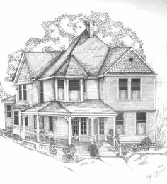 Simple Pencil Drawings of Houses | Mindy L. Bryant, 1955 -