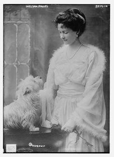 Mrs. Wm. Phillips, the former Caroline Astor Drayton (1880-1965). Granddaughter of The Mrs. Astor (Caroline's mother Charlotte caused scandal when she divorced her husband for another man. Mrs. Astor stood by her daughter, breaking the taboo against divorce in high society).