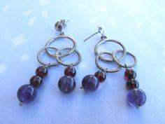 2 .925 Sterling Silver Hoop Ring Earrings by PureJewelryElegance