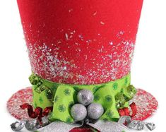 The Jester, Christmas tree topper ,Unique Top hat tree topper, Whimsical Christmas table decoration, Harlequin Christmas decoration Candy Cane Christmas Tree, Christmas Tops, Christmas Tree Toppers, Christmas Candy, Christmas Colors, Christmas Projects, All Things Christmas, Holiday Crafts, Christmas Holidays