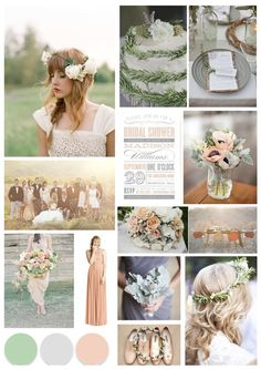 A classic wedding theme of sage green, grey and muted peach - created for a cotswold wedding styled shoot by Jessie Thomson Weddings & Events: www.jessiethomson.co.uk