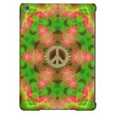 Fluro  Hexagon Gold Peace Sign iPad Air Case