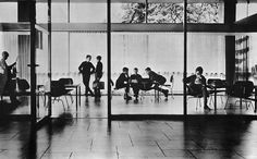 From a 1960s Herman Miller product page.  A great environment filled with Eames chairs and tables.