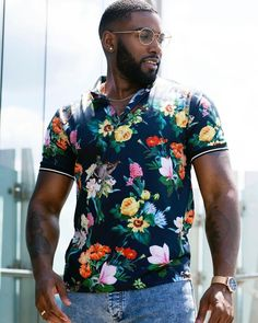 Fine Black Men, Hot Black Guys, Black Man, Suit Fashion, Look Fashion, Mens Fashion, Outfits Hombre, Sexy Beard, Beard Grooming