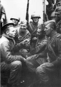 foto photo ww2 WWII Фото ВОВ  Sowjetische Marineinfanterie