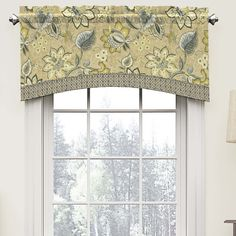 Features:  -Machine wash cold, gentle cycle.  -Brighton Blossom collection.  -Header: Yes.  Product Type: -Window Valance.  Design: -Swag.  Material: -Cotton. Color Flax -  Color: -Beige/Gray/Green. D