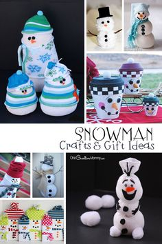 Looking for snowman crafts, decor and gift ideas? I've rounded up some of the best! {OneCreativeMommy.com}: