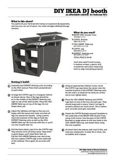 You spend all your hard-earned money on expensive DJ equipment, and now you ran out of space. You need a budget tabletop/storage solution. This is it, an affordable DIY DJ Booth you can build from IKEA parts.