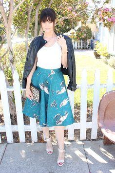 Fall Staples // Moto Jacket and Midi Skirt