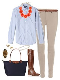 """""""My OOTD!"""" by southern-and-preppy ❤ liked on Polyvore featuring rag & bone, Zara, Polo Ralph Lauren, J.Crew, Tory Burch, Longchamp, Blue Nile, Ted Baker and Michael Kors"""