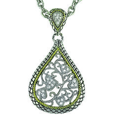 Sterling Silver with 18kt Gold and diamonds  #cp108 $499