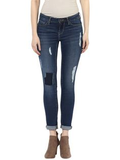 Scratched And Patched Blue Skinny Jeans Blue Skinny Jeans, Jeans Fit, Fitness, Pants, Fashion, Gymnastics, Moda, Trousers, Women Pants