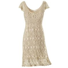 Crochet Lace Dress - New Age & Spiritual Gifts at Pyramid CollectionThis is such a sweet looking dress. Semi- dressy, yet very casual .