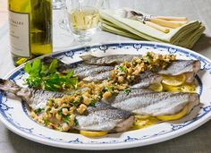 Grilled Trout with Walnut Meuniere