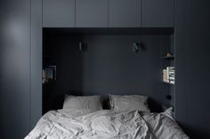 Architectural Built-Ins for the Bedroom: 15 Favorites from the Archives (Remodelista: Sourcebook for the Considered Home) Bedroom Wardrobe, Master Bedroom, Bedroom Decor, Bedroom Ideas, Ikea Bedroom, Bedroom Wall, Bedroom Furniture, Wall Decor, Coastal Bedrooms