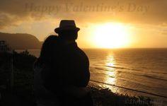 Happy Valentine's Day from beautiful (and romantic) Kauai! #Kauai #Hawaii #sunset