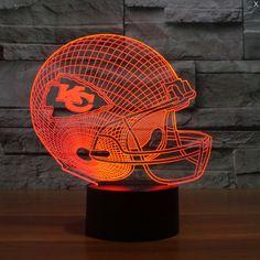 NFL KANSAS CITY CHIEFS 3D LED LIGHT LAMP