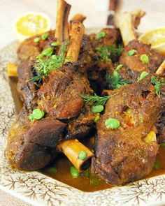 Lamb Shanks with Rice and Fava Beans