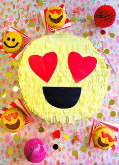 DIY Valentine's Day Emoji Pinata Box