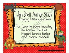 Jan Brett Author Study Reading Responses from Red Apple Teacher on TeachersNotebook.com -  (15 pages)