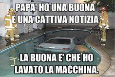 un improvvisato lavaggio auto