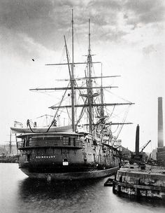 HMS Agincourt, launched in 1865. She was an armoured frigate.
