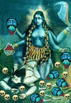 'Joy and sorrow are simply Mother Kali's play. Neither is her reality. Mother Kali, Divine Mother, Kali Goddess, Mother Goddess, Shri Hanuman, Durga, Kali Tattoo, Kali Mata, Digital Art Fantasy