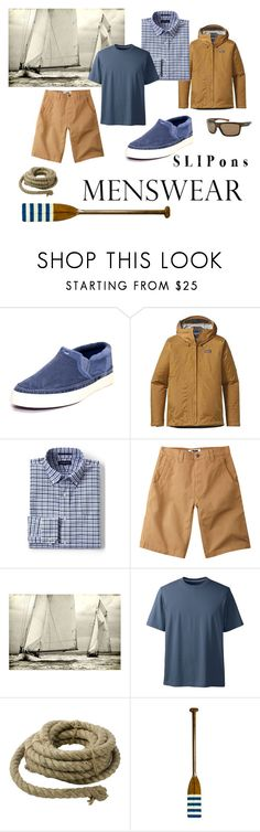 """""""Classic New England"""" by v-gehrig ❤ liked on Polyvore featuring Napapijri, Patagonia, Lands' End, Mountain Khakis, Leftbank Art, HomArt, Authentic Models, Revo, men's fashion and menswear"""