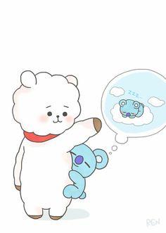 Namjin fanart and pictures, we can't forget about the parents uwu💜 Bts Chibi, Namjin, Jung So Min, Fanart Kpop, Kpop Anime, Dibujos Cute, Bts Drawings, Fan Art, Line Friends