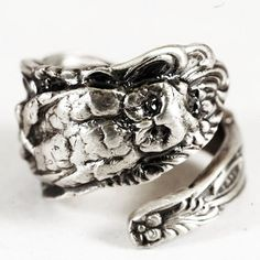 Owl Ring Spoon Ring with Snake in Eco Friendly by Spoonier on Etsy, $72.50