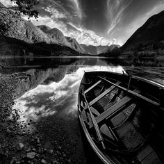 Norway. Beautiful HDR black and white photography by Maciek Duczynski.