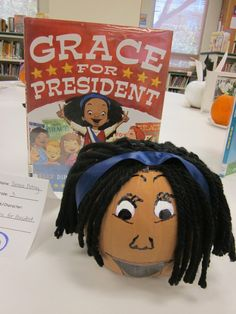 Grace for President book pumpkin