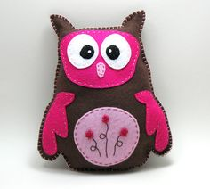 "Stuffed Owl PATTERN - ""Owlivia"" - Sew by Hand Plush Felt Stuffed Animal PDF - Easy to Make"