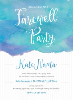 Elegant Farewell Party Invitation Design  Design Flyer Templates